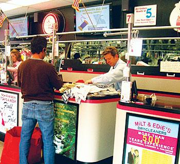 Milt & Edie's counter