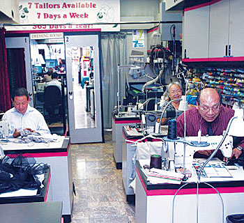 Milt & Edie's tailoring area image