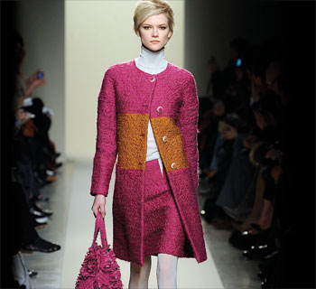 Bottega Veneta boiled-wool skirt suit